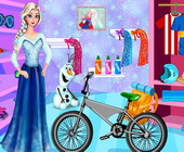 Elsa Olaf Bike Decor